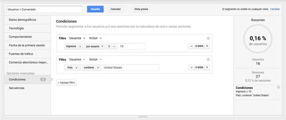Segmentos Avanzados en Analytics: Análisis de Datos 8