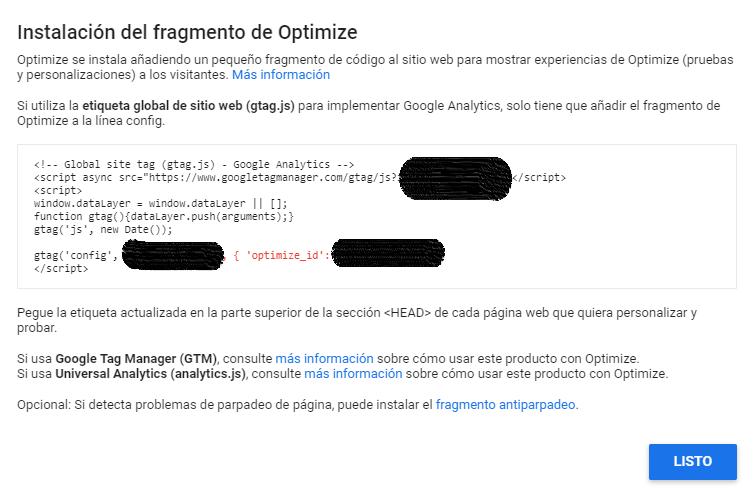 Google Optimize: La herramienta de A/B testing de Google 8