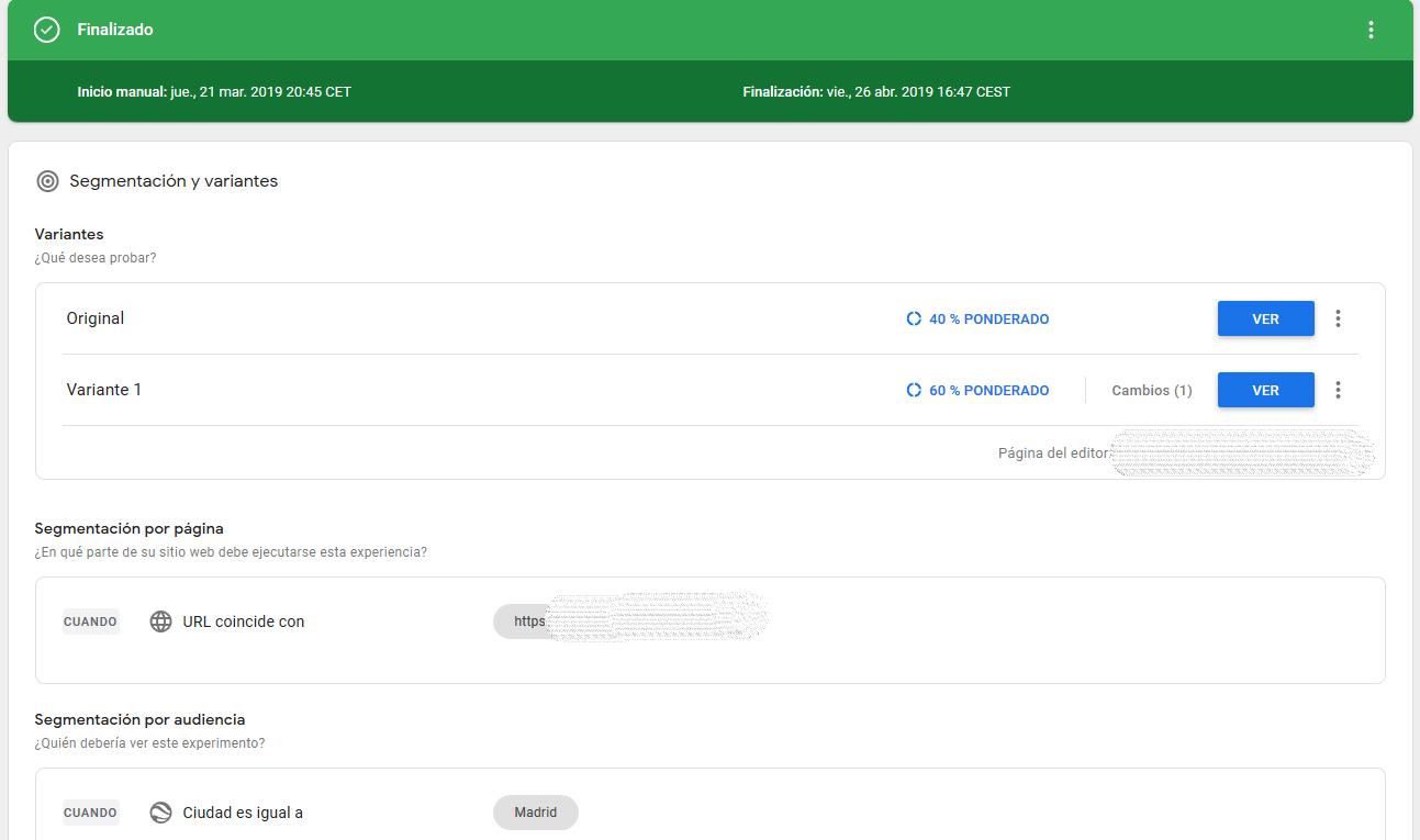 Google Optimize: La herramienta de A/B testing de Google 16