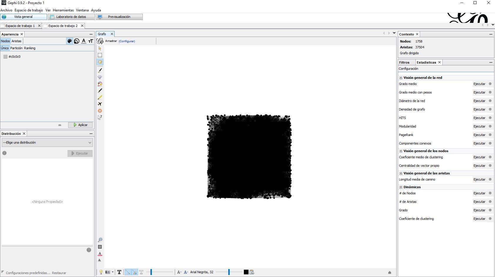 Gephi-visualizacion