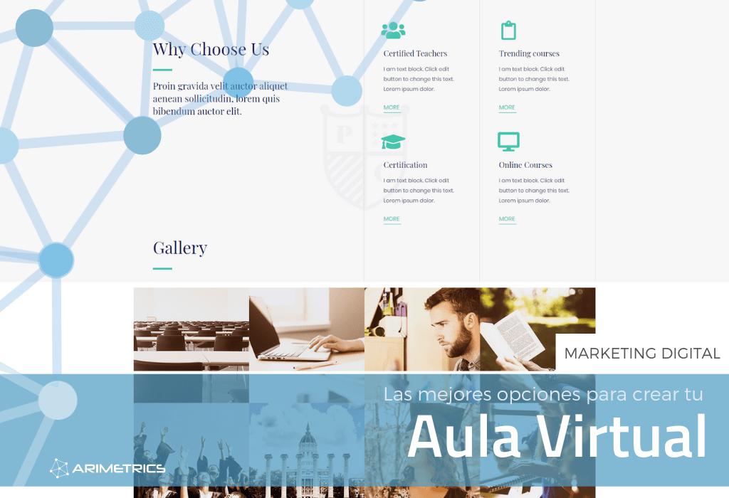 Las mejores opciones para crear un aula virtual