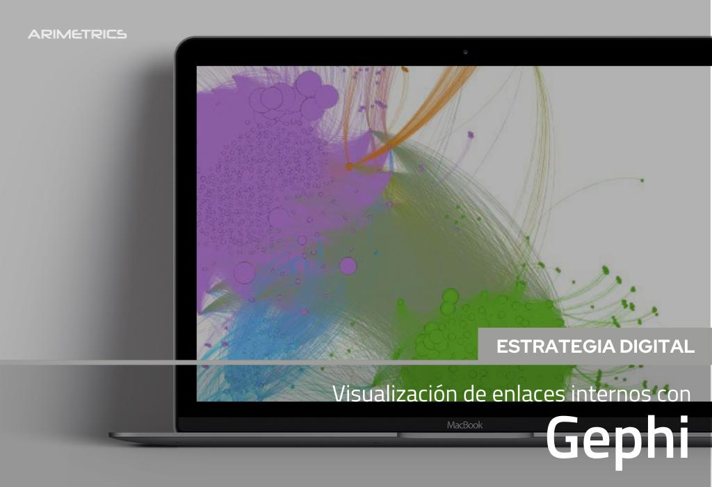 Visualización de enlaces internos con Gephi 2